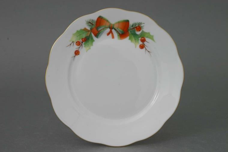 Herend Dessert Plate - Christmas Simple
