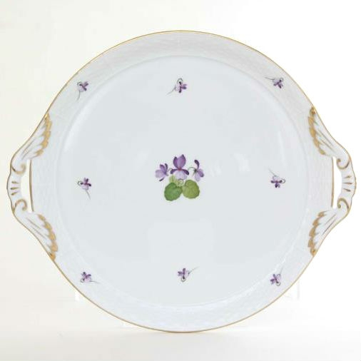 Cake Plate w. handle - Violet Sissi Collection