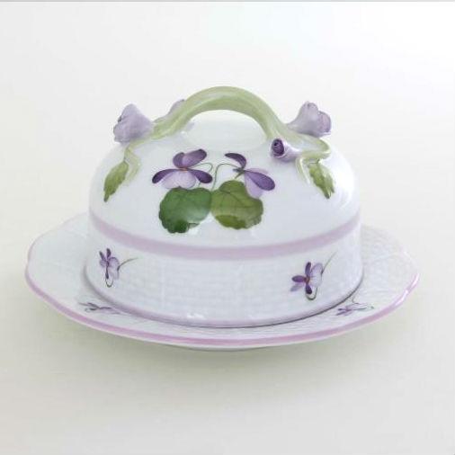 Butter dish, branch knob - Violet Sissi L