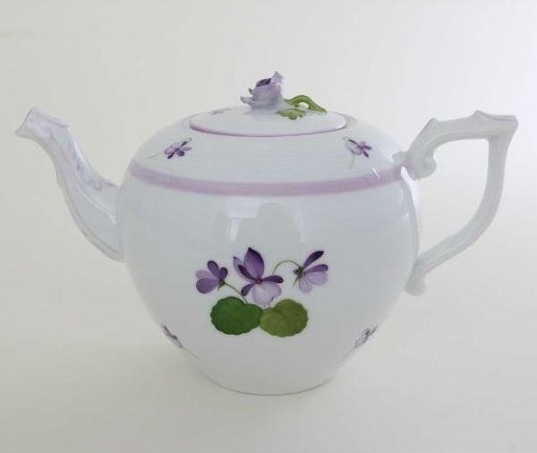 Herend Teapot, rose knob - VIOLETL Sissi Edition