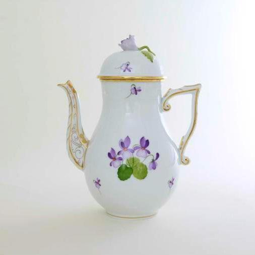 Coffee Pot, rose knob - VIOLET Sissi Edition