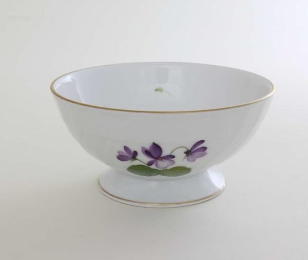 Footed bowl - Golden Edge