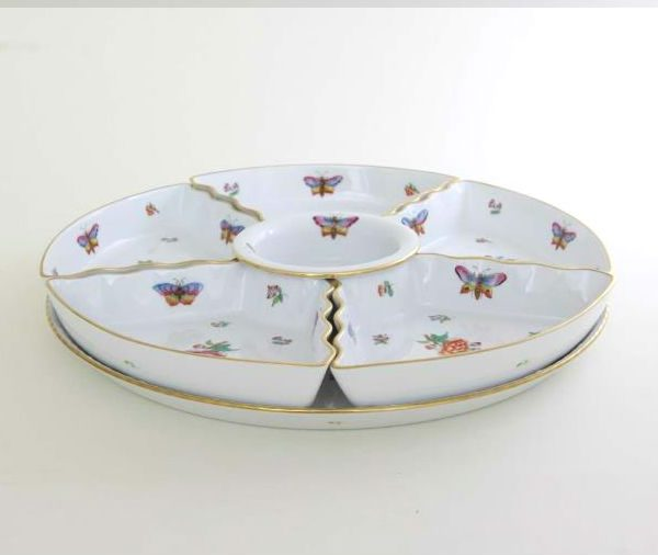 6 pcs. Hors D'oeuvre dish - Queen Victoria Butterfly