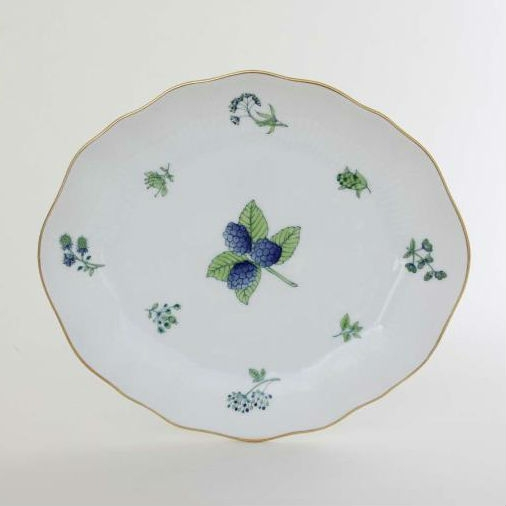Herend Oval Dish w. Relief