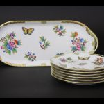 Herend Queen Victoria Dessert Set for 6