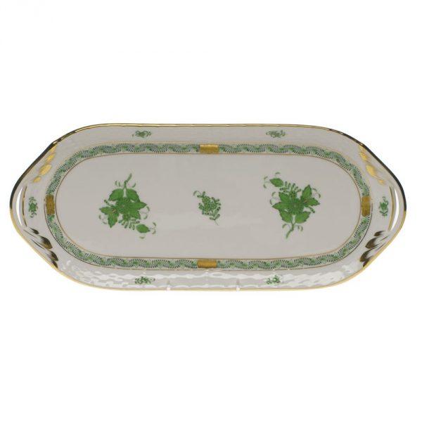Herend Fine China Chinese Bouquet Sandwich Tray 00436-0-00 AV