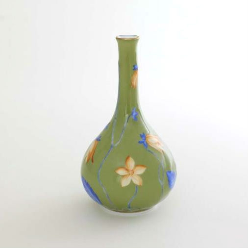 Vase With Flowers Green