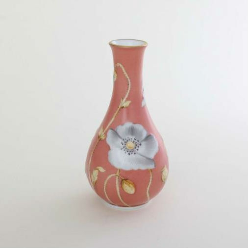 Vase, embossed - Poppy Terracotta