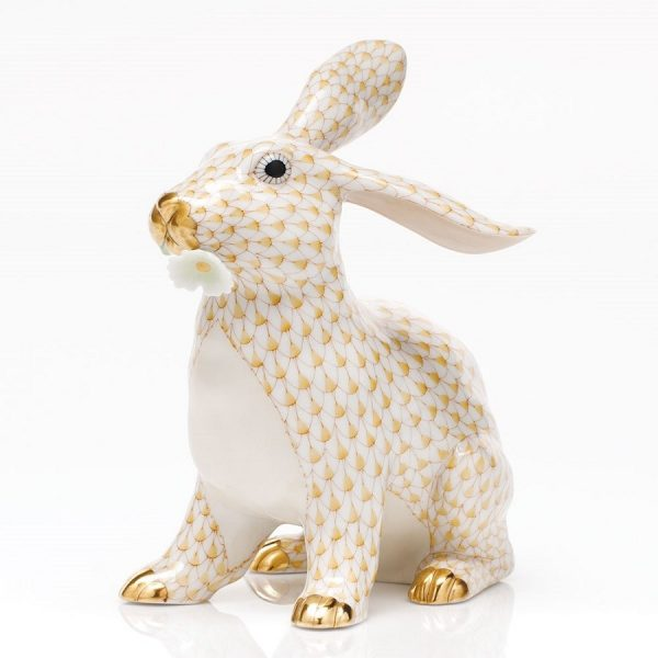 Herend Bunny With Daisy - FIshnet Butterscotch