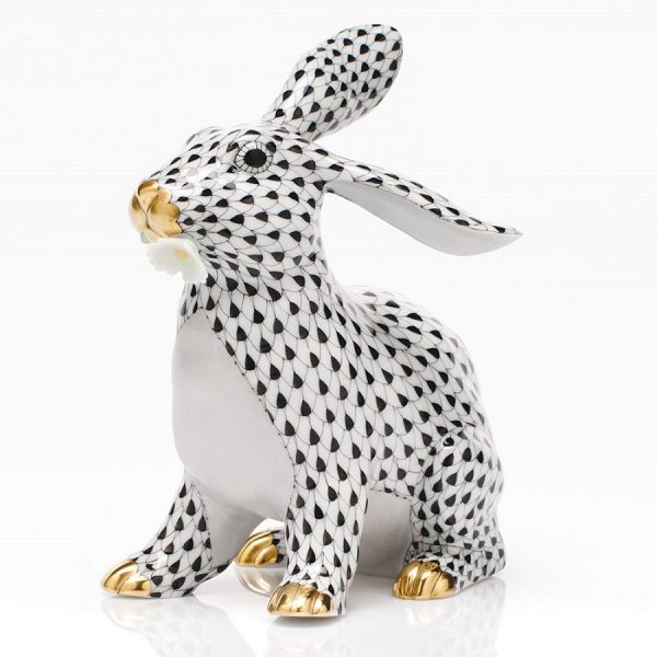 Herend Bunny With Daisy - FIshnet Black