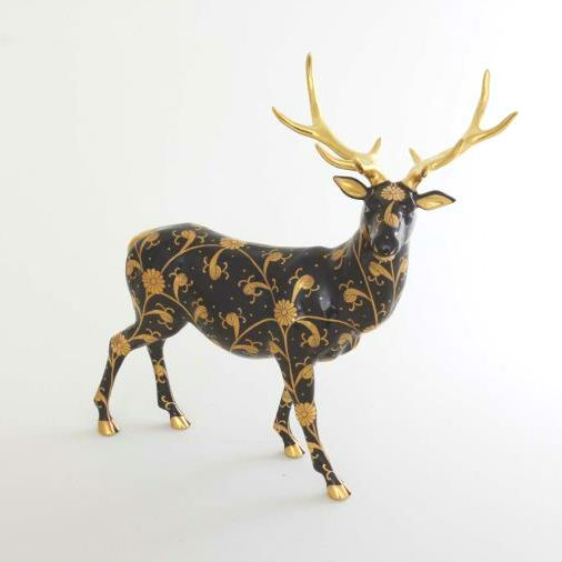 Herend Elk - Black Dynasty Gold/Mastepiec