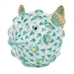 Herend Puffer Fish Figurine Green Fishnet