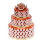 Herend Wedding Cake Rust Fishnet