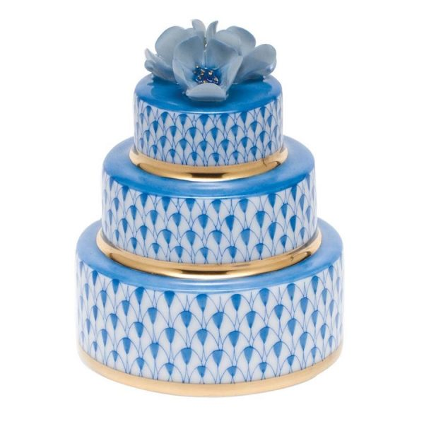 Herend Wedding Cake Blue Fishnet