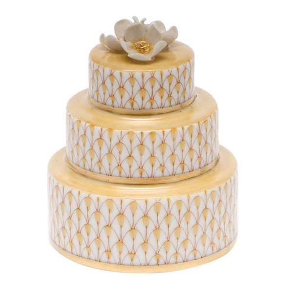 Herend Wedding Cake Butterscotch Fishnet