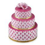Herend Wedding Cake Pink Fishnet