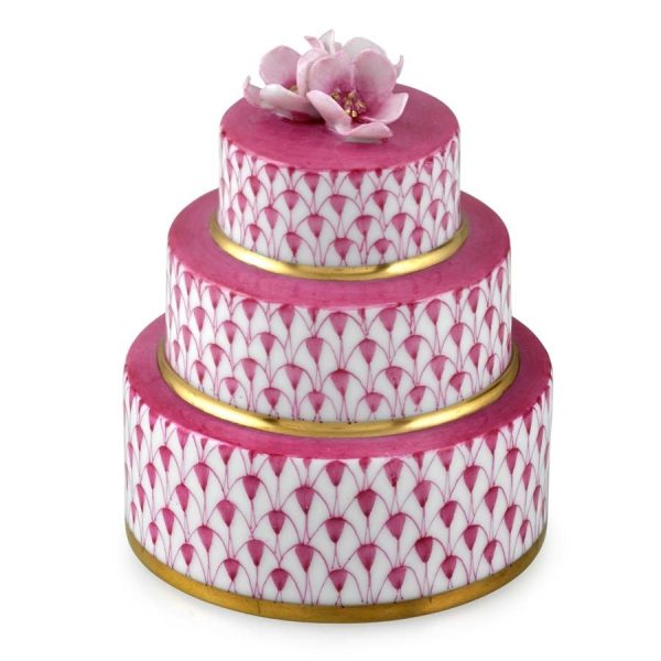 Herend Wedding Cake Pink Fishnet