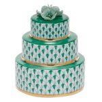Herend Wedding Cake Green Fishnet