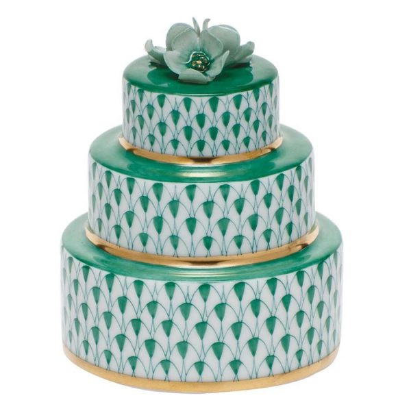 Herend Wedding Cake Green Fishnet