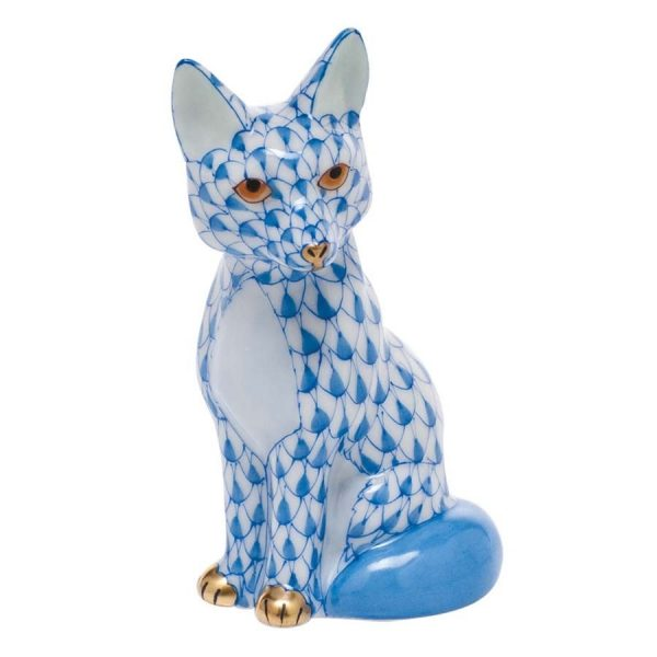 Herend Young Fox - Fishnet Blue