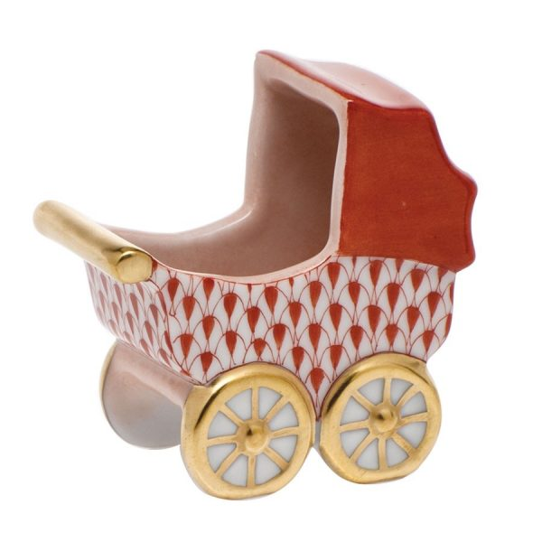 Baby Carriage - Herend Fishnet Rust