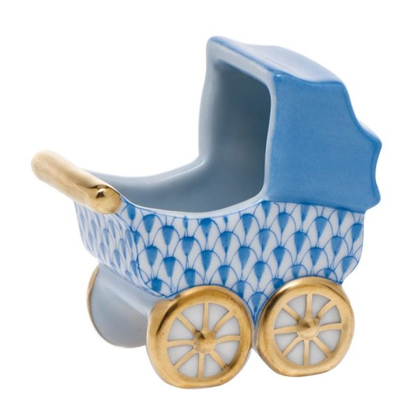 Baby Carriage - Herend Fishnet Blue