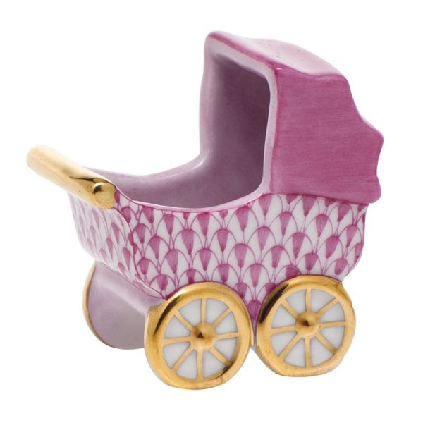 Baby Carriage - Herend Fishnet Pink