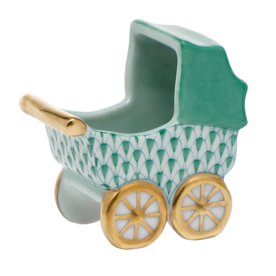 Baby Carriage - Herend Fishnet Green