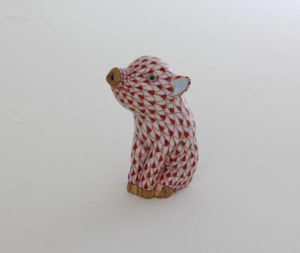 Herend Small Pig - Fishnet Rust