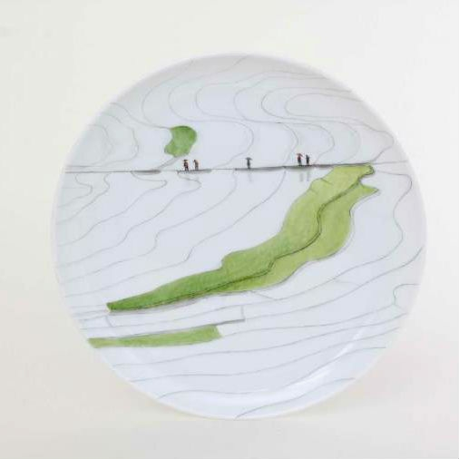 Herend TERRE4 Dessert Plate - Limited Edition 500 pcs.