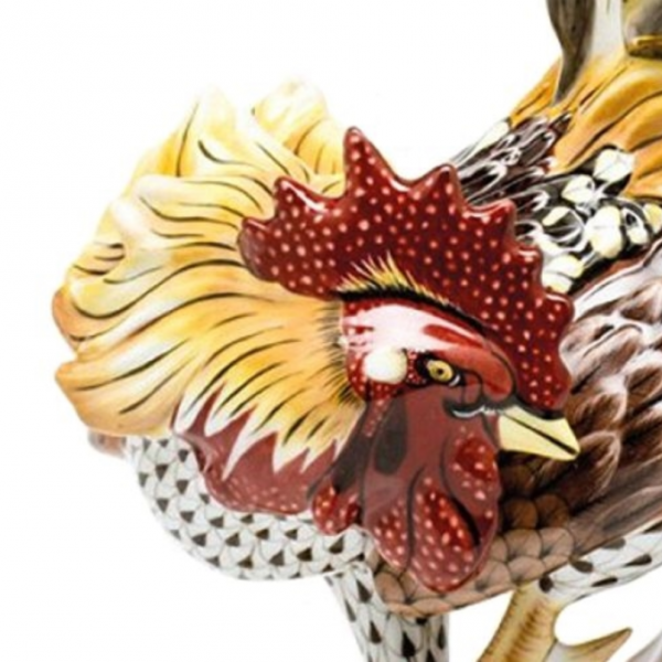 Herend Rowdy Rooster Figurine Reserve Collection