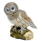 Herend Gray Barred Owl Figurine Reserve Collection - Limited Edition 150 pcs.