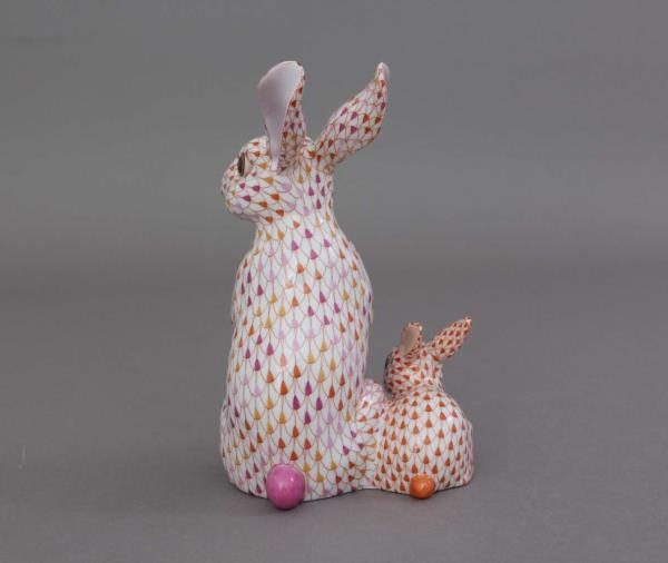 Herend Figurine Bunny with Baby Reserve Collection - Limited Edition 150 pcs.
