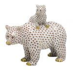 Herend Figurine Grizzly Bear and Baby Reserve Collection - Limited Edition to 150 pcs.