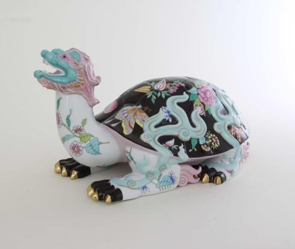 Herend Figurine Dragon turtle - Limited Edition to 100 pcs.