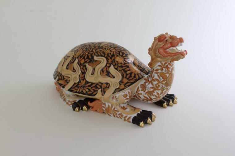 Herend Figurine Dragon turtle2 - Limited Edition to 100 pcs.