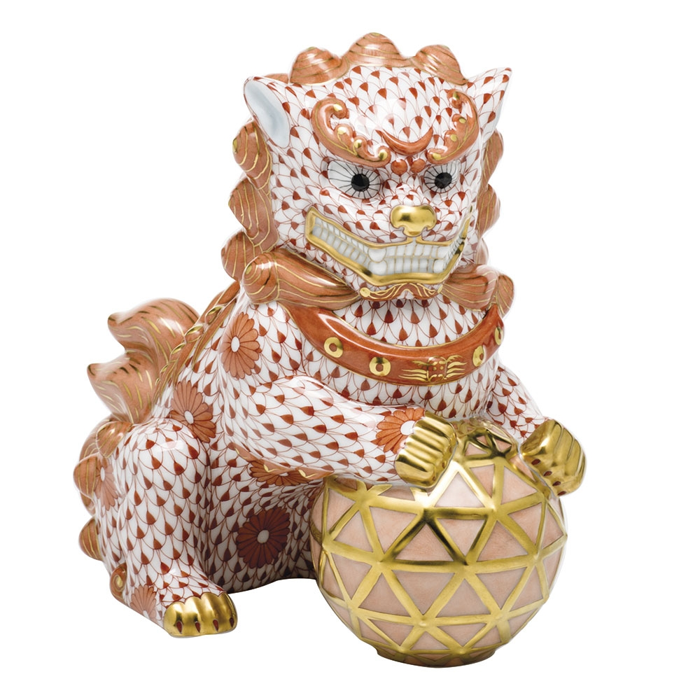Herend Figurine Guardian Foo Dog Right Reserve Collection - Limited Edition  150 pcs