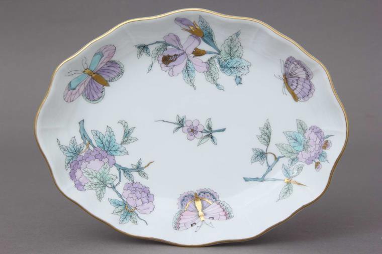 Oval Bowl - Royal Garden Blue