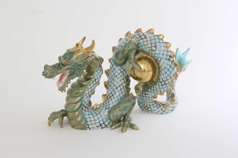 Herend Dragon Masterpiece Limited Edition to 100 pcs 16055-0-00 VHSP123