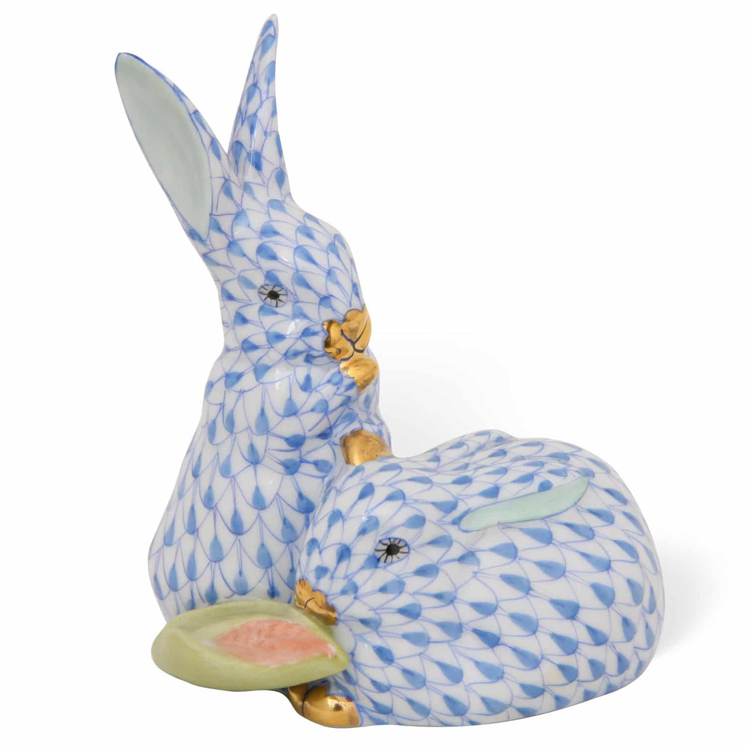 Herend-Porcelain-Bunny-Animal-Figurine