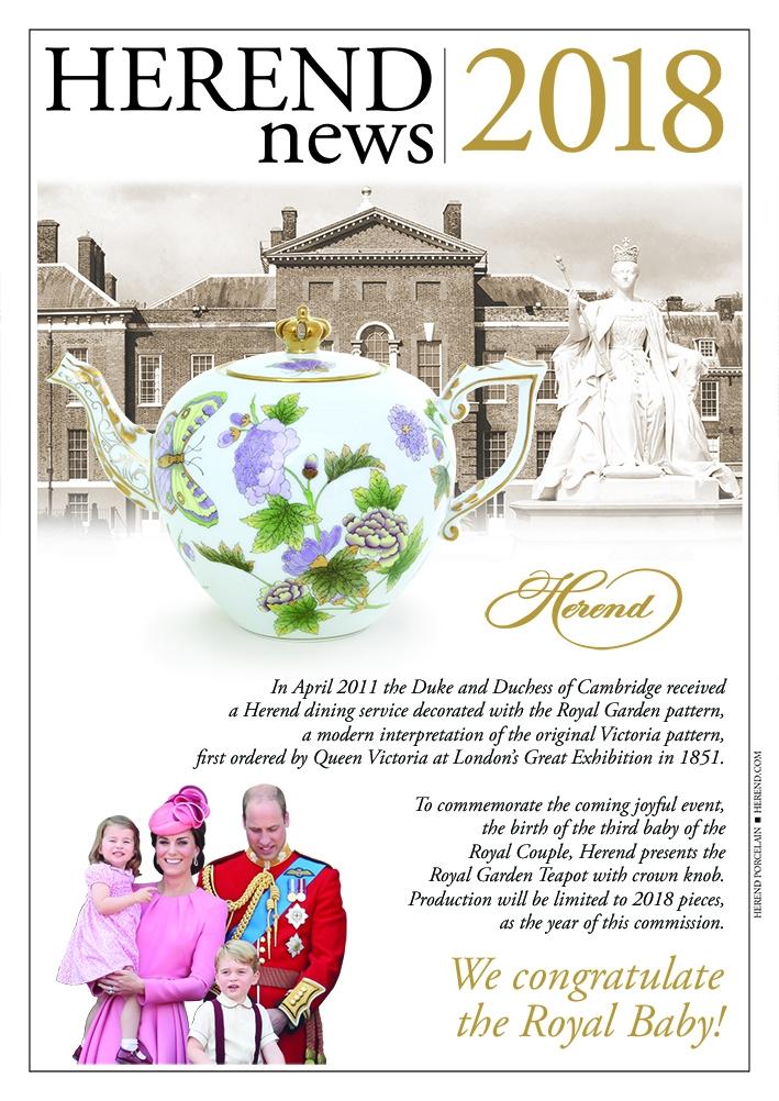 Teapot, butterfly knob - Royal Garden1