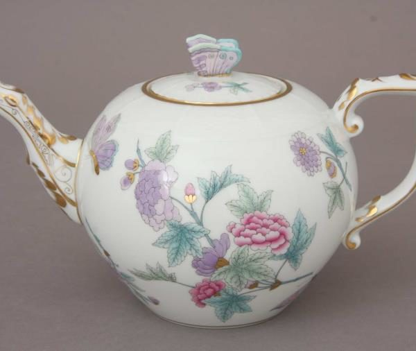 Teapot, butterfly knob - Royal Garden Turquoise Butterfly 00604-0-17 EVICT2