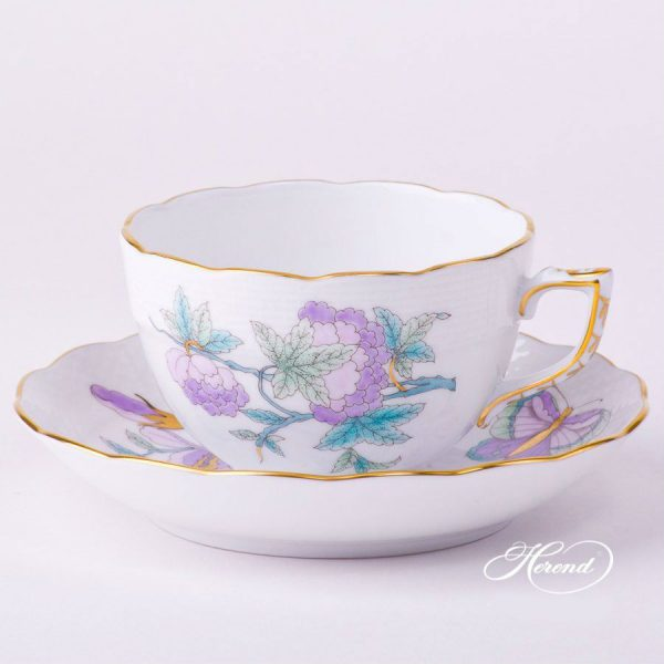 00724-0-00 EVICTF2 Teacup and Saucer EVICTF2 Royal GardenTurquoise Flower