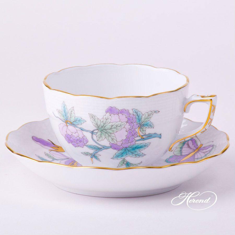 00724-0-00 EVICTF2 Teacup and Saucer EVICTF2 Royal GardenTurquoise Flower