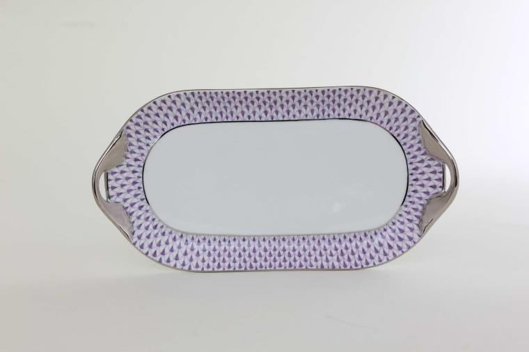 02437-0-00 VHL-PTSmall Sandwich tray - Fishnet Purple Herend's iconic fishnet color is now available in dinnerware - Purple is only available in Canada! Order with world wide shipping