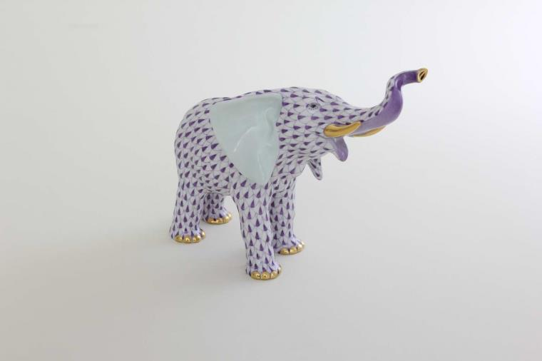 05271-0-00 VHL Mother Elephant Figurine - Fishnet Purple
