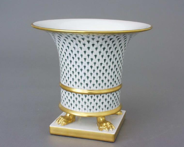 Herend Fishnet Gret Vase Empire 06401-0-00 VHFB