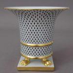 Herend Black Fishnet Vase Empire VHN