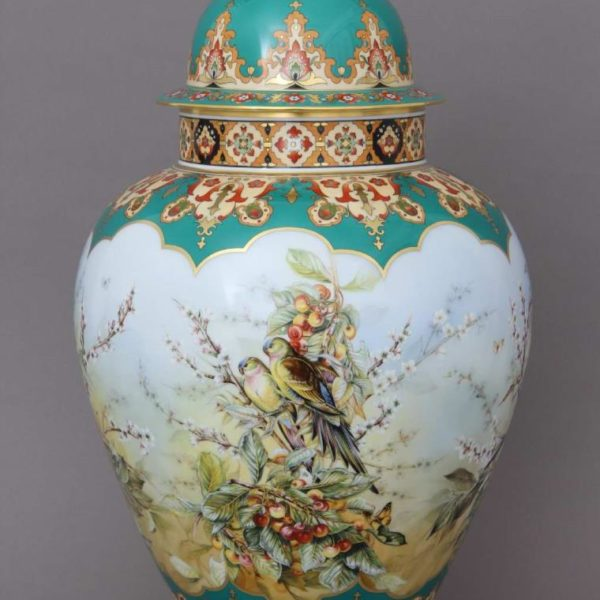06571-0-15 SP875 Vase – Large – Tropical Birds - Herend Fine china