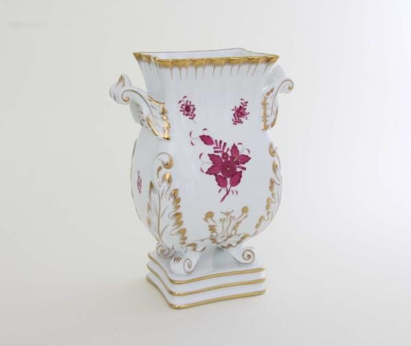 HEREND CHINESE BOUQUET PORCELAIN, RASPBERRY